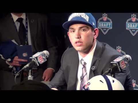 2012 NFL Draft: Andrew Luck, Colts, QB Press Conference