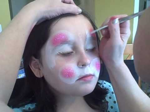 Easter Bunny Face Painting Tutorial | Curlie's Face Art Michigan ...
