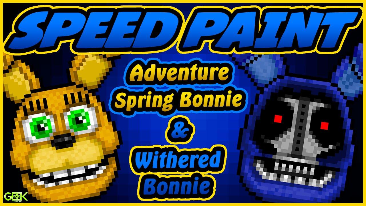 Adventure Spring Bonnie Speedpaint Fnaf World Pixel