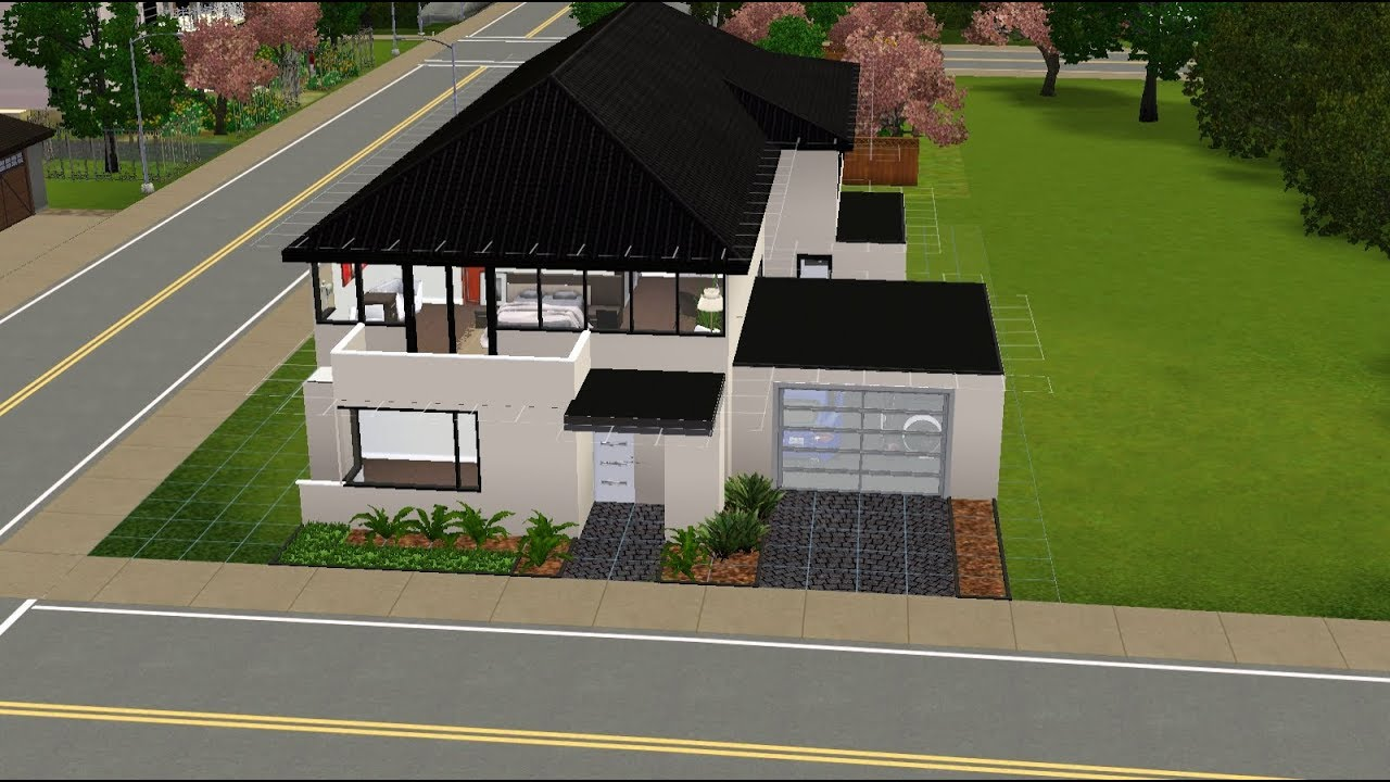 Sims 3 house building modern decking part 3 youtube for Modern house 8 part 6