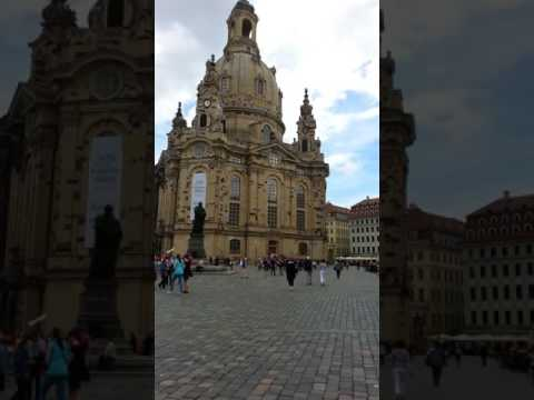 The Frauenkirche Church of Our Lady & Neumarkt Square Dresden