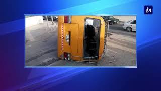 تدهور حافلة مدرسية بمنطقة أم النعاج دون وقوع إصابات - (7-2-2018)