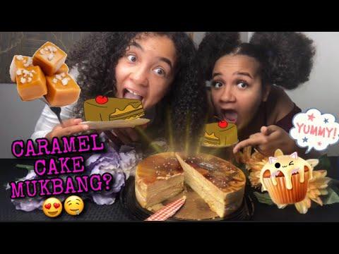 creme-caramel-cake-mukbang😋🤤-|-카라멜-모카-케이크-리얼사운드-먹방-ケーキ-केक-|-먹방-|-asmr-|-eating-show