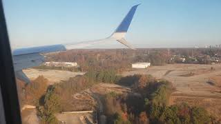 737-900 LANDING IN ATLANTA, Wing view...  Sometimes you're a pilot, sometimes you're a passenger