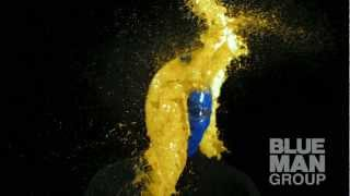SLOW MO Paint Balloon to the Face | Blue Man Group
