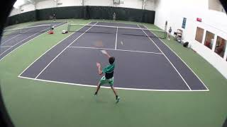 Andrei playing an exceptional tennis match at a Midwest U18 L3 tournament  - Oct 2017