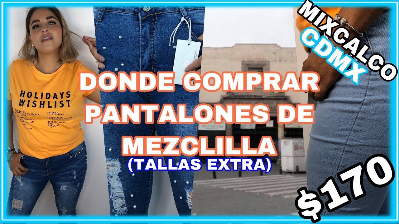 Pantalones De Mezclilla En El Centro Cdmx Con Tallas Extra Por Menos De 200