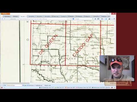 Prospecting Arkansas Step 9:  Using Topographic Index Map