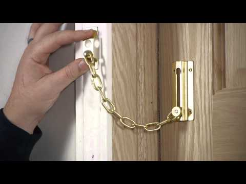 How to Install Chain Door Fasteners : Door Installation & Repairs from YouTube · Duration:  3 minutes 8 seconds