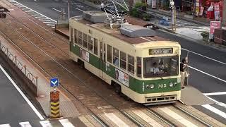 広島電鉄 700形705号車 本川町電停にて 20170912