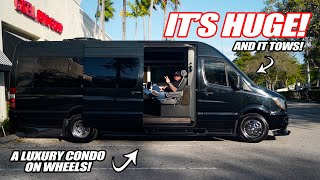 Buying a GIANT Mercedes Sprinter Van For Rallies! *LUXURY CONDO ON WHEELS!*