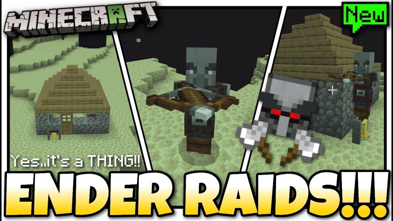 Minecraft – ENDER RAIDS ! BAD OMEN – Its a Thing ! [ Village & Pillage ] MCPE / Xbox / Bedrock