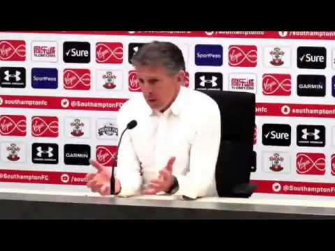 Southampton FC. SaintsFC boss Claude Puel speaks with the media ahead of MCFC. 2017 04 13
