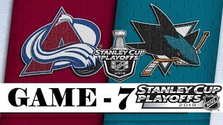 Colorado Avalanche Vs San Jose Sharks  Second Round  Game 7  Stanley Cup 2019  Обзор