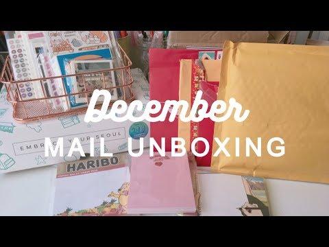 december mail unboxing | Inspire Me Korea, secret santa, trades, and more!!