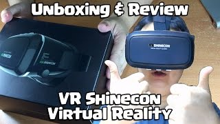 Unboxing VR Shinecon Virtual Reality Glasses!! (VR Glasses for smartphones)(This VR headset total is about SGD $50 if you add in shipping fees which is slightly more expensive then the flimsy Google VR Cardboard. Pros: - More durable ..., 2015-09-29T17:46:20.000Z)