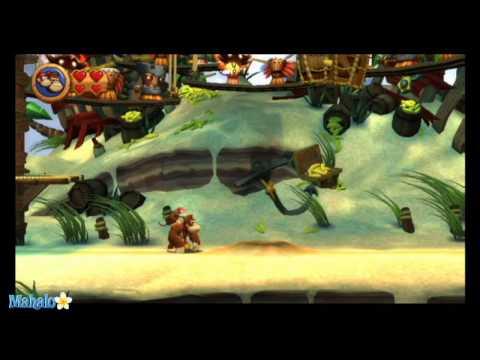 Donkey Kong Country Returns Walkthrough Level 2-B Pinchin Pirates