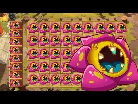 Plants Vs Zombies 2 Una Multitud de RafflesiaPrimitiva Destruyen a los Zombies