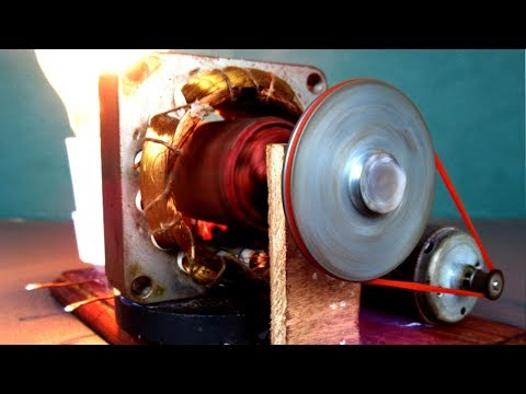 Universal Free energy generator electric DC motor 230 Volts - Experiment DIY projects at School