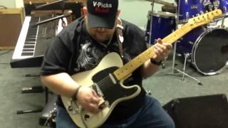 Johnny Hiland playing a few guitars at V Picks