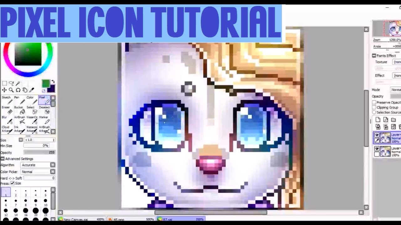 Pixel Icon Tutorial! (for Deviantart)