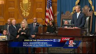 Gov. Baker gives Patriots a shout-out in State of the Commonwealth speech