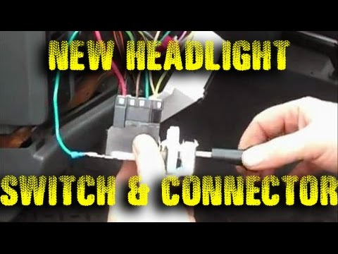 Jeep Headlight Switch Connector Repair YouTube – Jeep Yj Headlight Switch Wiring