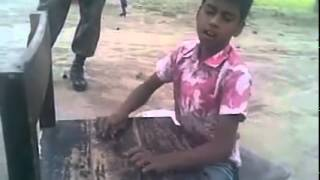 What a song of a Bangladeshi little boy without any instruments