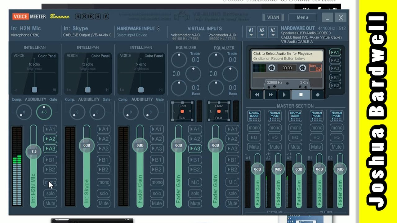 Voicemeeter Banana and Virtual Audio Cable | RECORD SKYPE OBS ETC