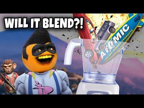 Adventures of Buttman #28: WILL IT BLEND?! (Annoying Orange GTA V)