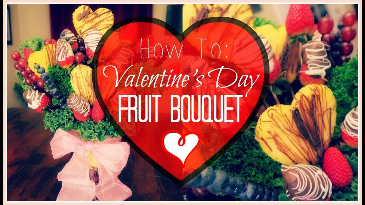 Valentine Fruit How To Diy Valentines Day Fruit Bouquet Gift Idea Somers In