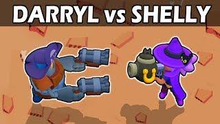 Darryl VS Shelly   1 VS 1   Brawl Stars