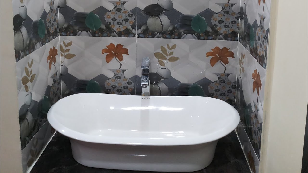 Tiles And Wash Basin Design Ideas Youtube