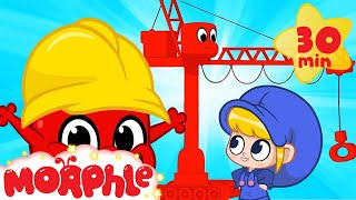 Red Crane Morphle - Construction Videos for Kids | Trucks and Cars | Mila and Morphle | Morphle TV