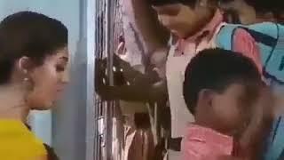 Funny kid and teacher