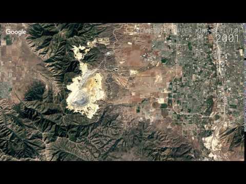Google Timelapse: Kennecott Copper Mine, Salt Lake City, Utah