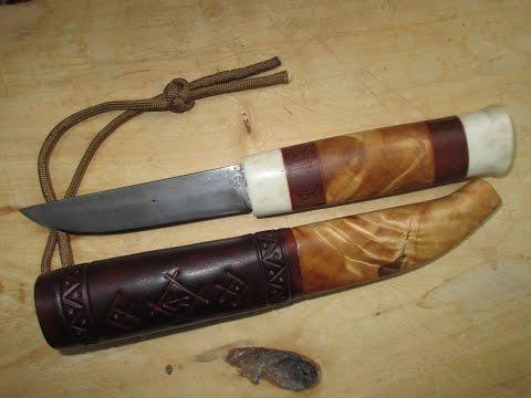Саамский нож,кованый из напильника