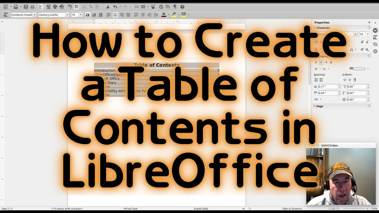 How To Create A Table Of Contents In Libreoffice