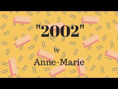 2002 - Anne Marie (Lyrics video Starkaraoke version)
