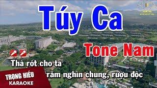Karaoke Túy Ca Tone Nam Nhạc Sống | Trọng Hiếu