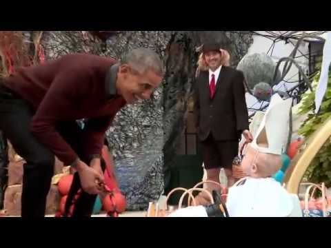 Happy Halloween 2015 in White House with Barack Obama