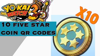 10 Five Star Coin Qr Codes In Yokai Watch 3