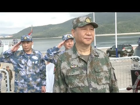 Xi Boards Warship to Inspect PLA Navy in South China Sea