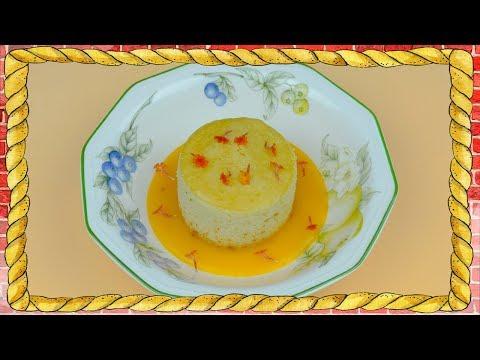 Bizcocho sin horno a la plancha muy fácil de hacer con salsa de mango