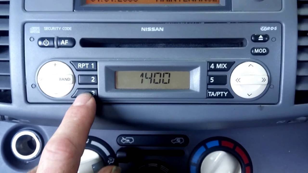 Nissan micra how to enter the radio code. Youtube.