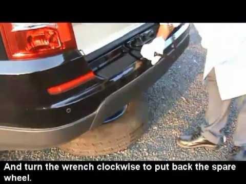 REXTON Spare Wheel Removing & Refitting
