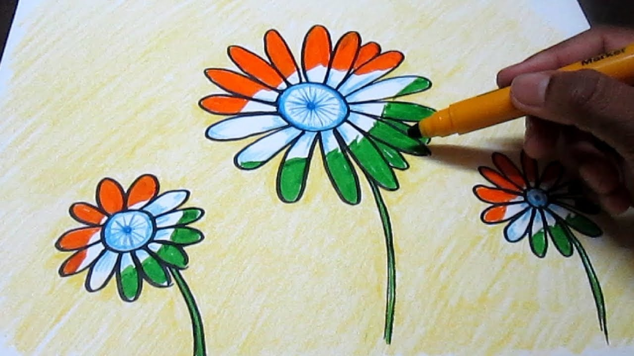 Creative Drawing Happy Independence Day For Kids