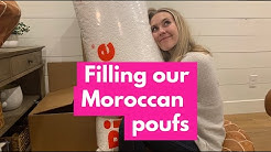 How NOT to fill your Moroccan Pouf