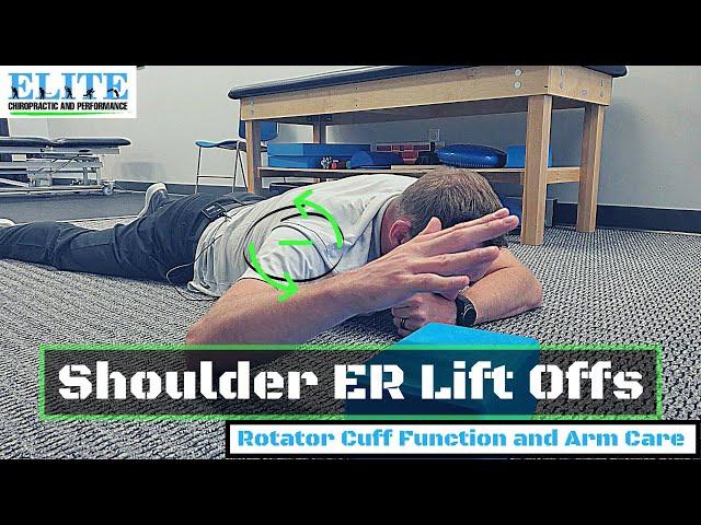 Improve Shoulder External Rotation   Rotator Cuff Strength   Shoulder ER Lift Offs