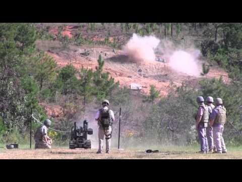 Gun-toting robots: QinetiQ live fire demonstration